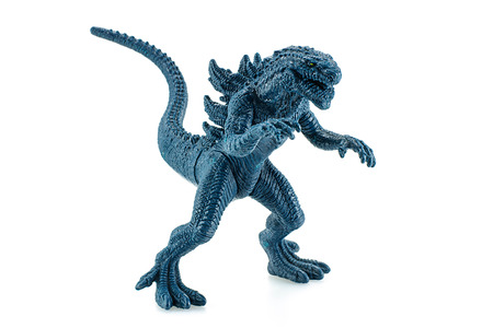 bombings: Bangkok,Thailand - April 26, 2015: Godzilla King of the Monsters figure toy. Godzilla is a 1998 American science fiction monster film directed and co-written by Roland Emmerich.