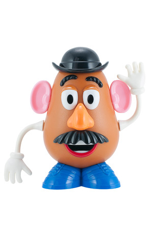 toy story: Bangkok, Thailand - June 8, 2015: Studio shot of Mr. Potato Head toy character from Toy Story animation films by Disney Pixar studio. Editorial