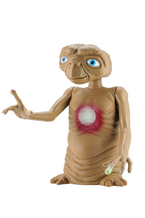 animated alien: Bangkok, Thailand - June 8, 2015: E.T. character. The figure toy character from E.T. The Extra-terrestrial American science fiction-family film by Universal Pictures.