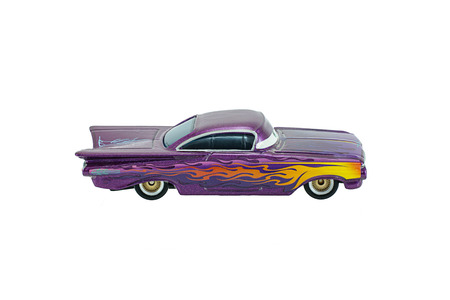 disney cartoon: Bangkok, Thailand - June 1, 2015: Ramone Chevrolet Impala toy car a protagonist of the Disney Pixar feature film Cars. A diecast cars collection from Mattel inc.