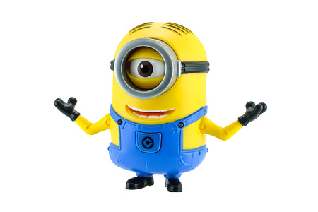 fictional character: Bangkok,Thailand - May 17, 2015: Minion fictional character from Despicable Me 2 animated 3D film produced by Illumination Entertainment for Universal Pictures. Editorial