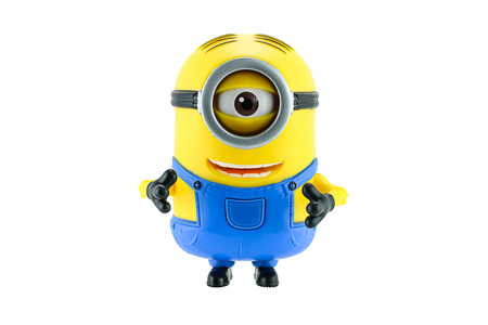 Bangkok,Thailand - May 17, 2015: Minion fictional character from Minions animated 3D film produced by Illumination Entertainment for Universal Pictures.