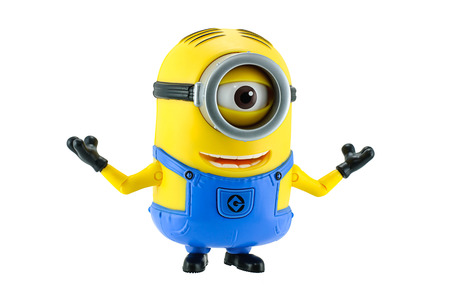 Bangkok,Thailand - May 17, 2015: Minion fictional character from Despicable Me 2 animated 3D film produced by Illumination Entertainment for Universal Pictures. Redactioneel