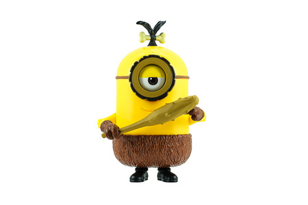 fictional character: Bangkok,Thailand - June 20, 2015: Cro-Minion fictional character from Minions animated 3D film produced by Illumination Entertainment for Universal Pictures.