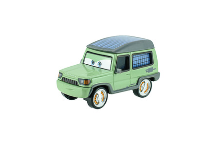 fictional character: Bangkok, Thailand - June 4, 2015: Miles Axlerod Range Rover L322 diecast car fictional character from The Cars animation movie.