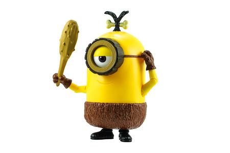 truncheon: Bangkok,Thailand - June 20, 2015: Cro-Minion fictional character from Minions animated 3D film produced by Illumination Entertainment for Universal Pictures.