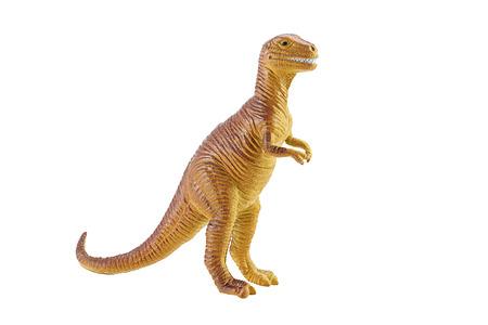 munch: Tyrannosaurus TRex toy isolated on white background Stock Photo