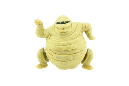 give me five: Bangkok, Thailand - September 27, 2015: Murray mummy toy character from Hotel Transylvania animation comedy film by Sony Pictures Animation.There are plastic toy sold as part of the McDonalds Happy meals. Editorial