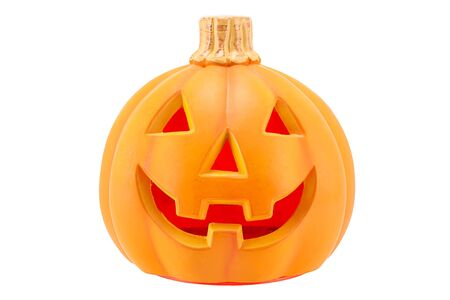 cucurbit: Halloween pumpkin isolated on white background.