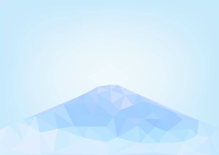 moutain: Low poly geometric . Snow cover moutain background vecter illustration design. Illustration