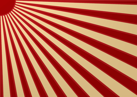 red sun: Red sun with ray on white background japan flag style. illustation. Illustration
