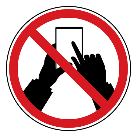 restrict: Do Not Use Mobile Phone restrict sign. Prohibit sign in privacy policy in business concept design. Illustration