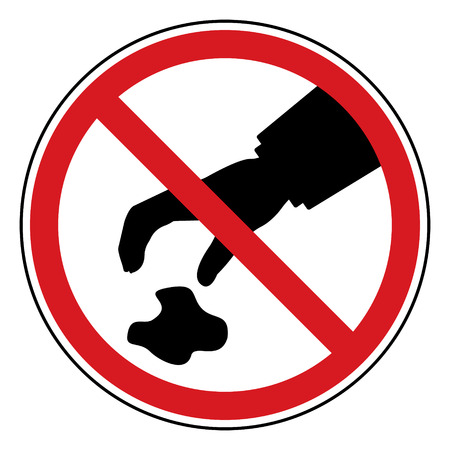 littering: Do not littering sign. Vector illustration eps10 design. Illustration
