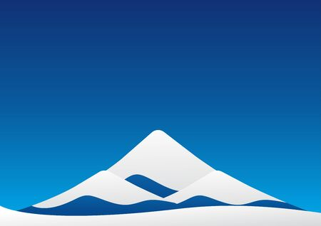 european alps: Winter landscape of blue ice mountain with snow like Mt-Fuji on blue sky backgroud. Vector illustration design.