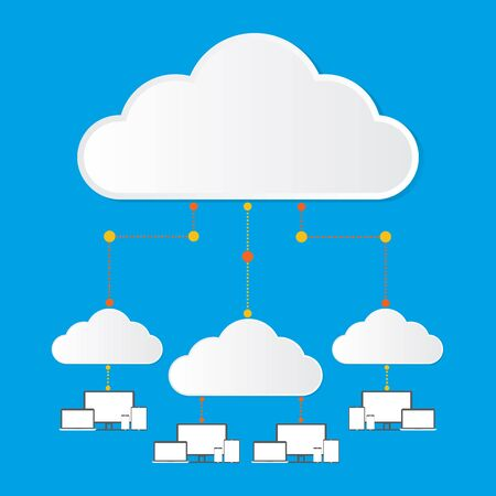 private server: Cloud computing concept design. Vector illustration design.