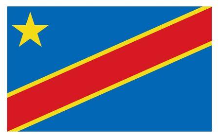 Democratic Republic of the Congo flag. Vector illustration country flag design.