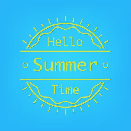 Hello Summer time typography poster Vector illustration design Illustration