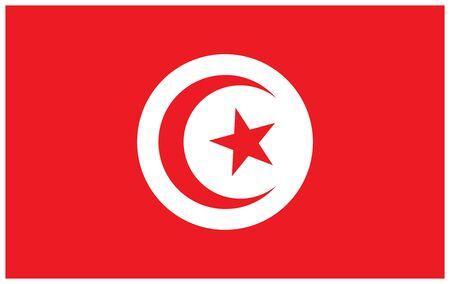 Tunisia flag. Vector illustration country flag design.