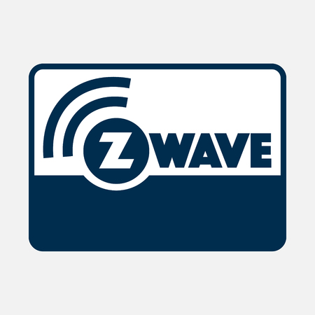 Z-Wave wireless communication design logo with border on white background. Vector illustration IoT home automation design.