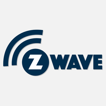 Z-Wave wireless communication design logo with shadow on white background. Vector illustration IoT home automation design. Illustration