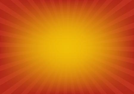 Orange sun rays vector, sunburst on red color background. Vector illustration background design.