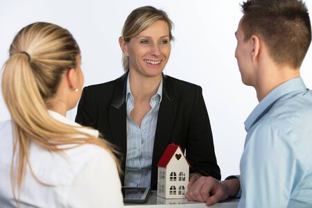 torque: real estate agent with torque Stock Photo