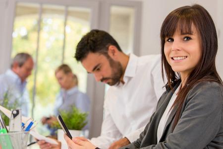 businees: businees people working together in office