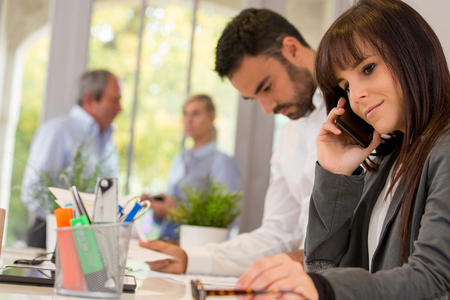 businees people working together in office