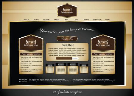set of elegance website template Stock Vector - 7590968
