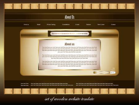set of elegance website template Vector