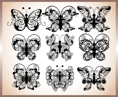 set of butterfly design