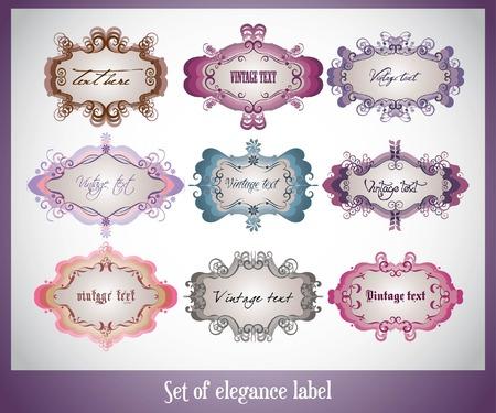 set of elegance label Vector