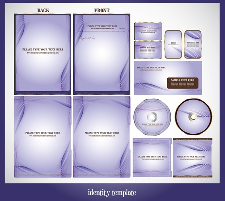 set of identity template Vector