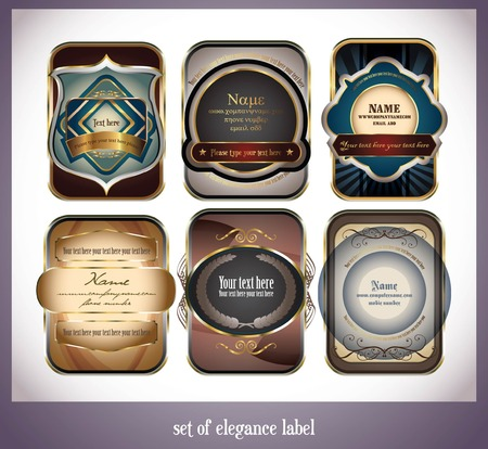 set of elegance label Stock Vector - 7591028