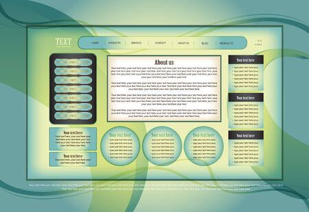 website template Stock Vector - 7618119