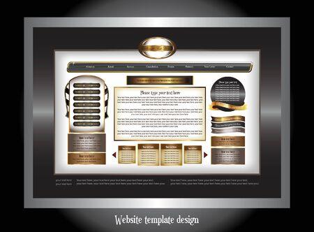set of website template design Stock Vector - 7618139