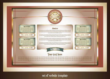 set of website template  Vector
