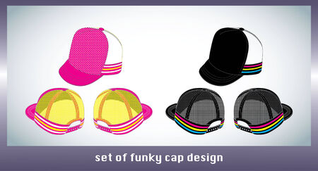 set of cap design Stock Vector - 7618167