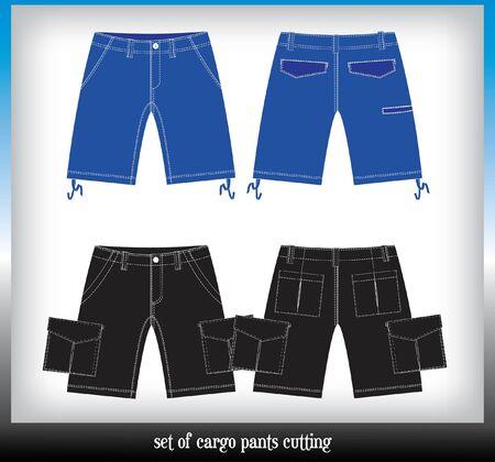 cargo pants: set of boy cargo pants cutting