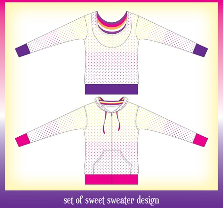 habiliment: set of girl sweater cutting