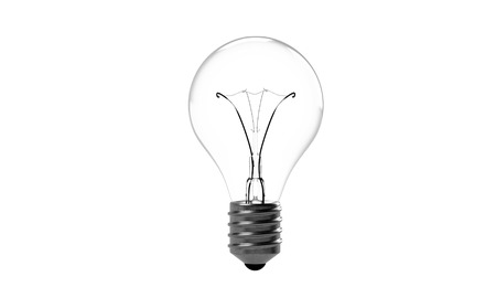 Light Bult in a White Background