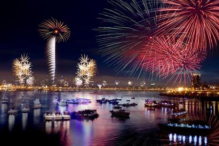台北市の花火 写真素材