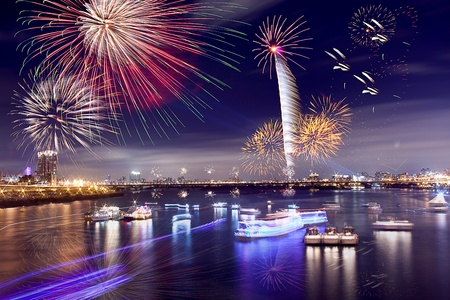 Fireworks of Taipei city  photo
