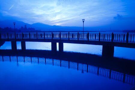 Tamsui Sunset, new Taipei, Taiwan  photo