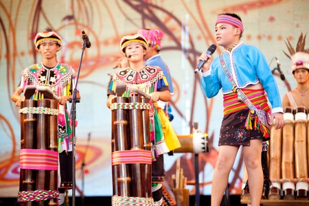 TAIPEI, TAIWAN - JULY 31: Global Indigenous peoples performing arts festival on July 31, 2011 in Taipie, Taiwan, More than 10 countries dancing groups in the world took part in the festival in Taipei
