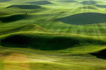 golf place with nice green Stock Photo - 11102774
