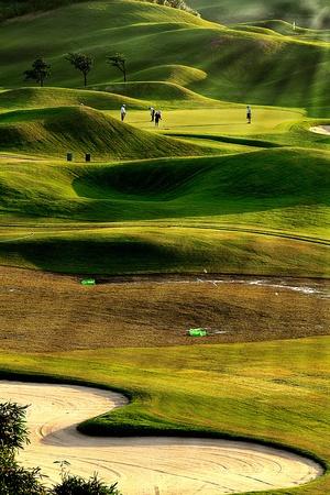 curso de formacion: golf lugar con verde agradable