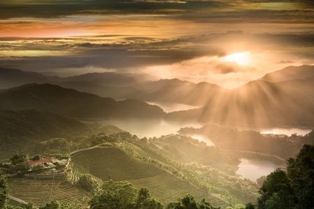 Sunset of Tanyao Ln., Sec. 5, Beiyi Rd., New Taipei City, Taiwan (R.O.C.)