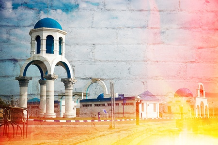 Greek Architecture with bule sky Stock Photo - 11723040