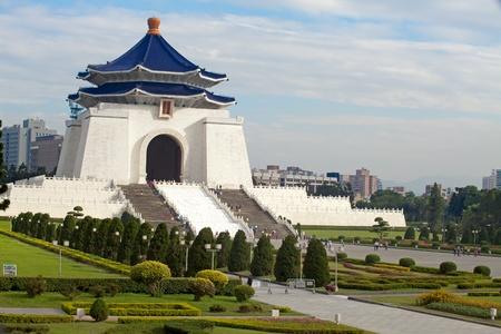 Taipei City - Feb 14: Chiang Kai-shek Memorial Hall is located in Zhongzheng District, Taipei, Taiwan, Chiang Kai-shek Memorial Hall is a building built to commemorate the President of the Republic of China, Chiang Kai-shek Editorial